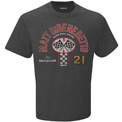 Mens Matt DiBenedetto #21 Wood Bros Racing 2020 Pit Stop T-Shirt Gray