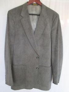 Thos. Stuart 42 L Men's Sport Coat Gray Soft & Comfortable Ultra Suede by Thos. Stuart