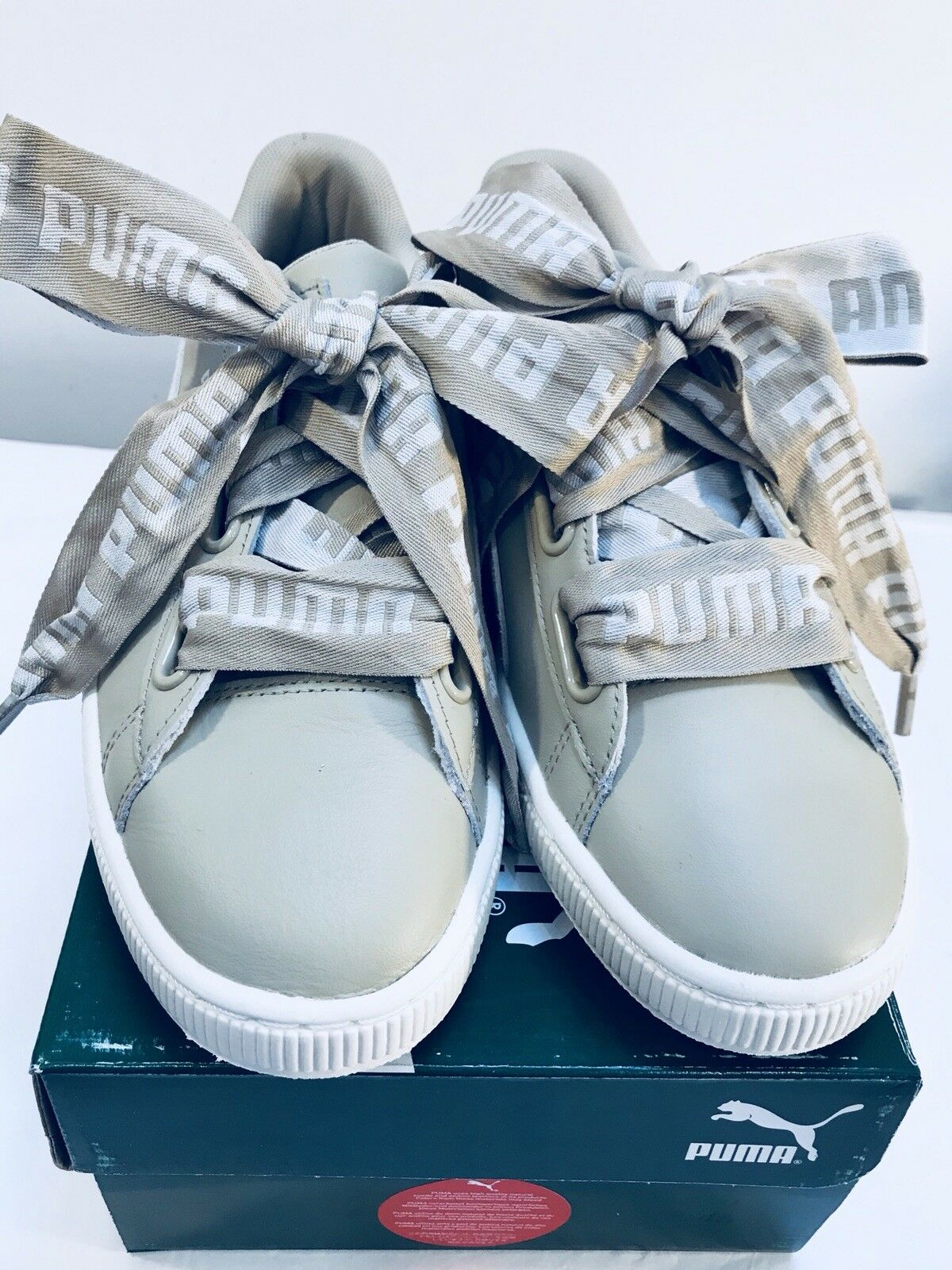 Puma Basket Heart DE femmes chaussures Safari-whisperblanc- Roseor EU41 UK7.5