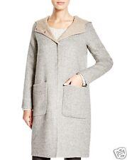NWT $668 Eileen Fisher Plus Hooded Baby Alpaca Wool Doubleface Coat 1X Clr: Moon