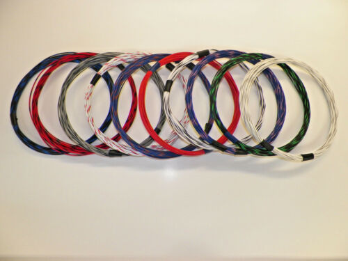 16 GXL 8 STRIPED COLORS 25 FEET EACH 200 FEET TOTAL HIGH TEMP AUTOMOTIVE WIRE