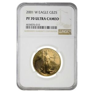 2001-W-1-2-oz-25-Proof-Gold-American-Eagle-NGC-PF-70-UCAM