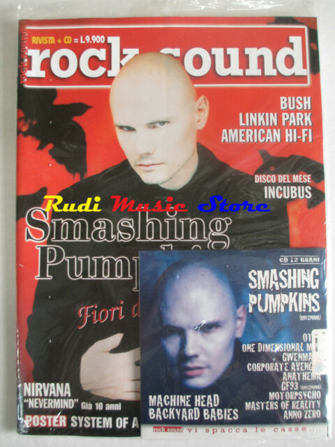 rivista ROCK SOUND 43/2001 +CD Smashing Pumpkins +POSTER System Of A Down Sugar