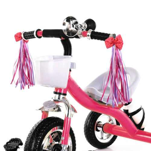 2PCS Kids Bicycle Bike Bowknot Streamers Scooter Handlebar Tassel Streamers US