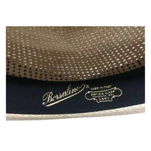Borsalino crochet Panama Uomo Paglia Italy 100 Semi 141106 Cappello Made In RxqBwHXrR