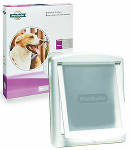 New-Staywell-PetSafe-760-Large-white-dog-door-with-see-through-flap