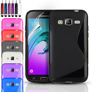 huge selection of 01258 842ae Details about S-Line Gel Case Cover & Screen Protector For Samsung Galaxy  J3 (6) 2016