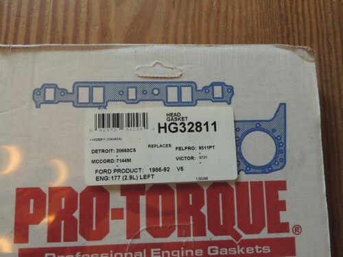 ROL HG32811 Head Gasket for 1986-92 Ford 2.9L 177 CID V6 cyl Left Driver Side