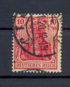 DR-86-II-f-Germania-10-Pfg-gute-Farbe-gestempelt-tiefst-geprueft-Jaeschke-L-kr63