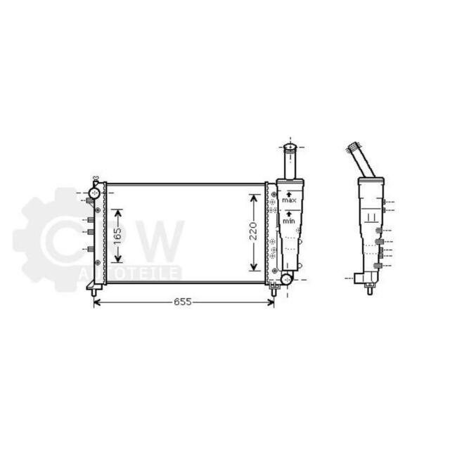 Refrigeración Del Motor Radiador Enfriador de Agua Fiat Punto 188
