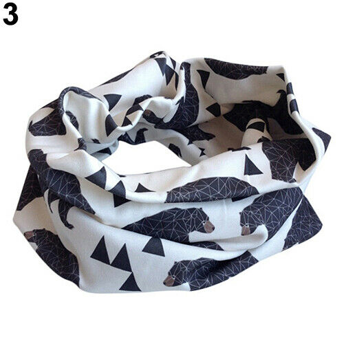 IG/_ HD/_ Kids Scarf Winter Soft Cotton Infinity Baby Circle Neck Warmer Snood Sca