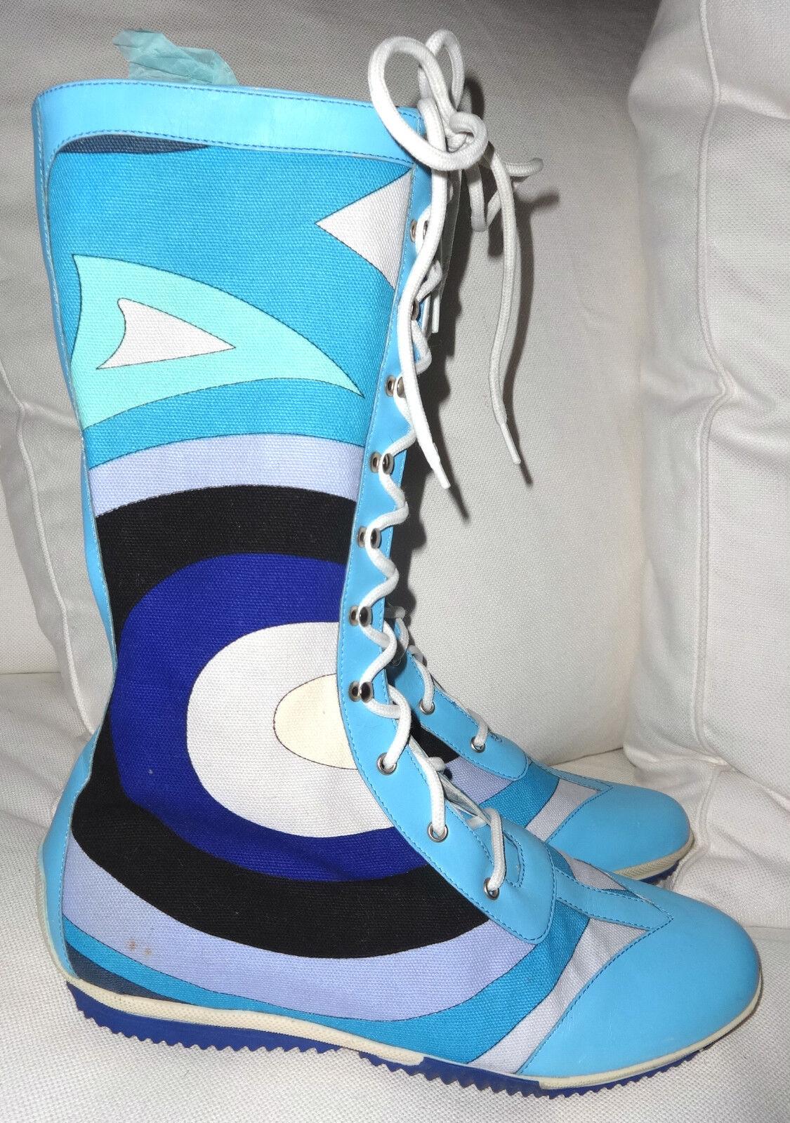 Rare emilio pucci boxer botas nuevo. 39
