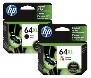HP Genuine 64XL Black/&Color Ink Cartridge In Bag HP ENVY Photo  7164 7855 7858