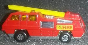 Vintage-1975-Matchbox-Lesney-22-Blaze-Buster-Red-w-Yellow-Ladder
