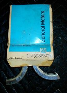 New NOS GM 1971-77 Chevy Vega Std.Crankshaft Bearing GM # 6260600 Cosworth B28