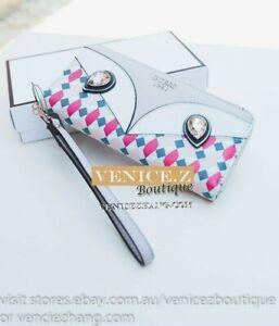 BNWT RRP$95 GUESS KIZZY Wallet Clutch Purse Zip-around Wristlet Geo Multi