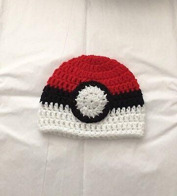Knit Crochet Pokemon Go Pokeball Pickachu Squirtle Baby Child Kids Hat Beanie