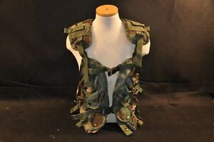 USGI-Enhanced-Load-Vest-LBV-Woodland-Camo-Adjustable-Issued-Military