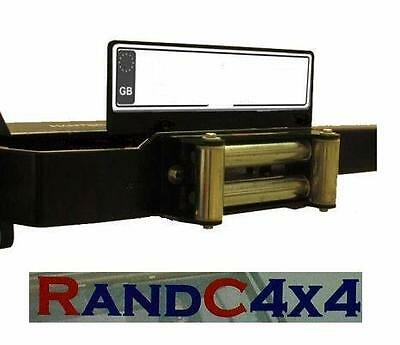 Winch Bumper Number Plate Holder Bracket and Cable Dirt Protection Guard