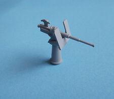 Single MK4 Oerlikon Gun in 1/72nd scale. Model Boat Fittings.