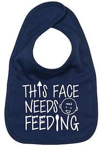 Funny-Baby-Bib-034-This-Face-Needs-Feeding-034-Cute-Feeding-Boy-Girl-Gift
