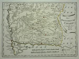 Reilly Old Coloured COPPERPLATE MAP Szeged Hungary Oradea Romania - Oradea map