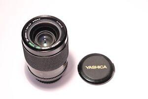 Yashica-28-80mm-f-3-9-4-9-MC-Zoom-Contax-Objektiv-mit-Front-und-Rear-Lens-Cap-039-s