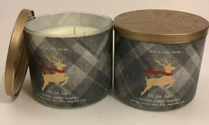 2-Bath-amp-Body-Works-WINTER-CANDY-APPLE-3-Wick-Scented-Candle-14-5-oz-Free-Ship