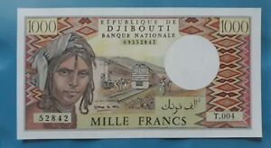 1979-Djibouti-1000-Francs-GEM-UNC-lt-P-37e-gt-039-rare-039