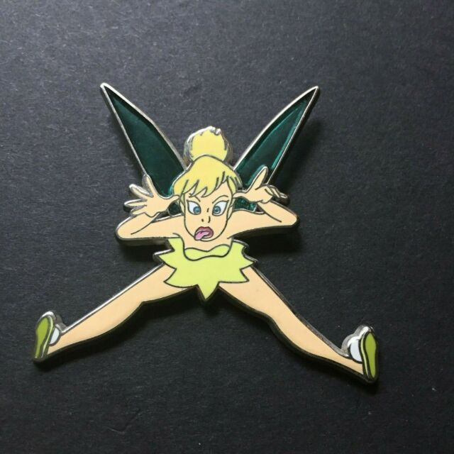 Tinker Bell - Silly Face stained glass wings Disney Pin 44898