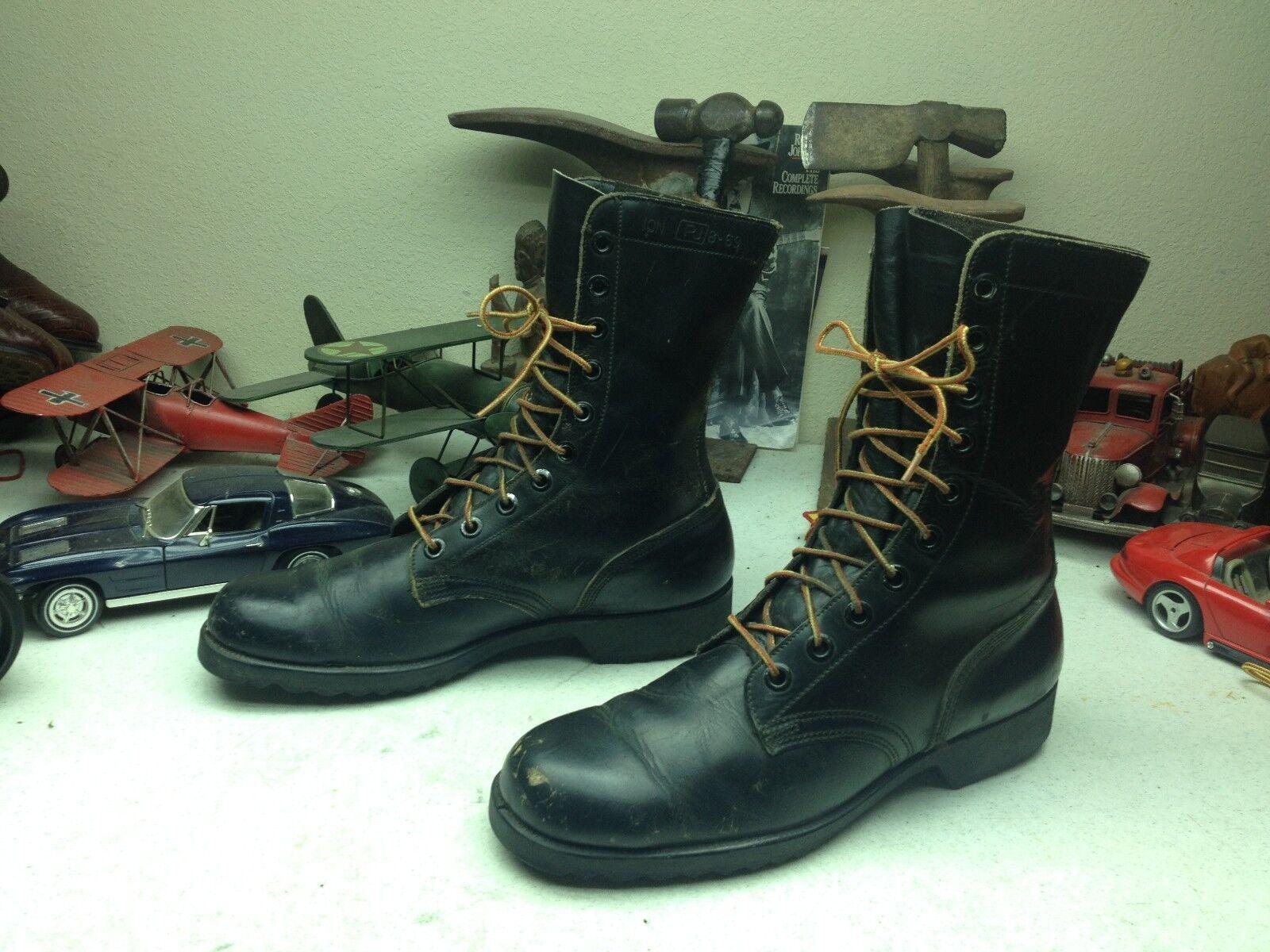 promozioni VINTAGE USA 1969 DISTRESSED nero LEATHER RO-SEARCH MILITARY COMBAT stivali stivali stivali 10 N  qualità autentica