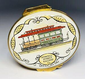 Crummles & Co English Enamels Powell Street Railway San Francisco Trinket Box