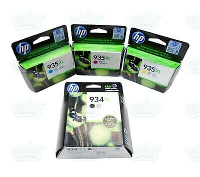 4-PACK HP GENUINE 934XL Black /& 935 Color Ink RETAIL BOX OFFICEJET PRO 6835
