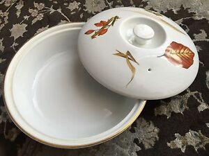 Vintage 25cm Wide Gold Gilded Royal Worcester Oven to Tableware Porcelain Dish - Eccles Greater & Royal worcester oven tableware buy or sell - find it used