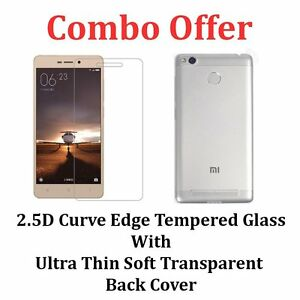 Combo-Offer-Transparent-Cover-Case-amp-Tempered-Glass-For-XIAOMI-REDMI-3S-3S-PRIME
