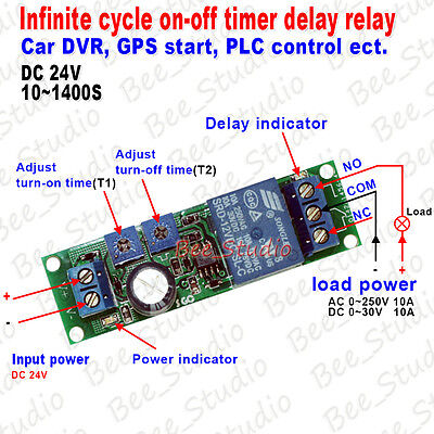 DC 5V 9V 12V 24V Infinite Cycle Delay Timer Time Relay ON OFF Switch Loop Module