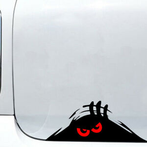 Red-Eyes-Monster-Peeper-Scary-Funny-Car-Bumper-Window-Vinyl-Decal-Sticker