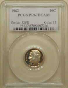 1962-PCGS-PR-67-DCAM-Roosevelt-dime-proof-deep-cameo-red-gold-amp-blue-rim-toning