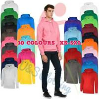 Uneek UNISEX SOFT DELUXE Hooded Sweatshirt Casual Jumper Pullover Hoodie Top Lot