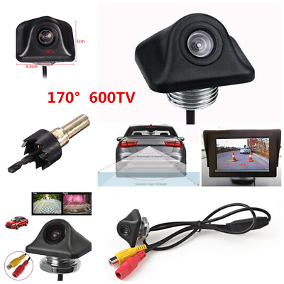 170° Hd Waterproof Car Rear View Camera Parking Reverse Backup Night Vision 12v Parts & Accessories
