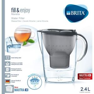 BRITA-Marella-Cool-MAXTRA-Plus-2-4L-Water-Filter-Fridge-Jug-Cartridge-Graphite