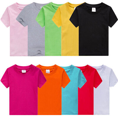ASST COLOR 2-12 YRS OLD KIDS 3 PCS LOT  White  BOYS SCHOOL PLAIN T-SHIRT LOT 16
