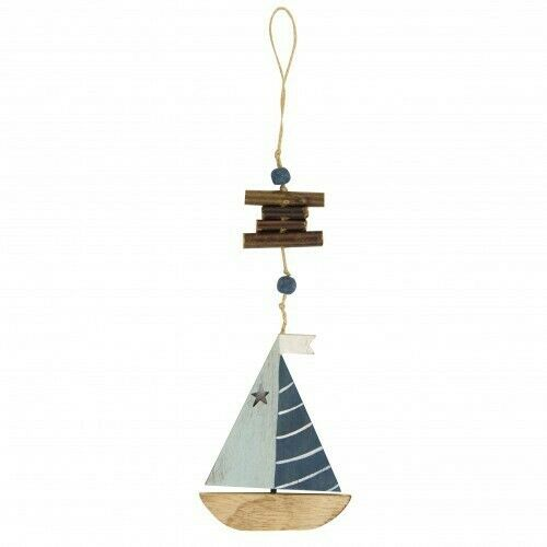 Nouveau Coastal style voilier suspendu en bois Nautique Décoration
