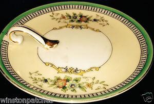 Noritake Lemon Dish with Side Handle Roseara Pattern