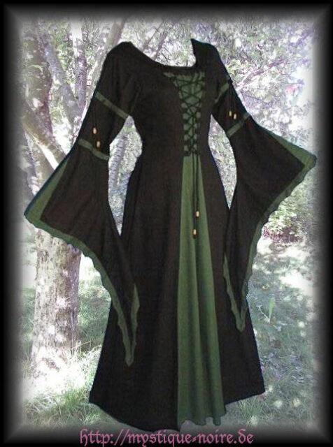 Laced Medieval Dress Middle Ages SCA Larp Reenactment Renaissance 4 Colours