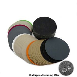 Wet or Dry  With Loop Sanding Disc 60-10000 Grit  5/'/' 125mm Sandpaper Pads