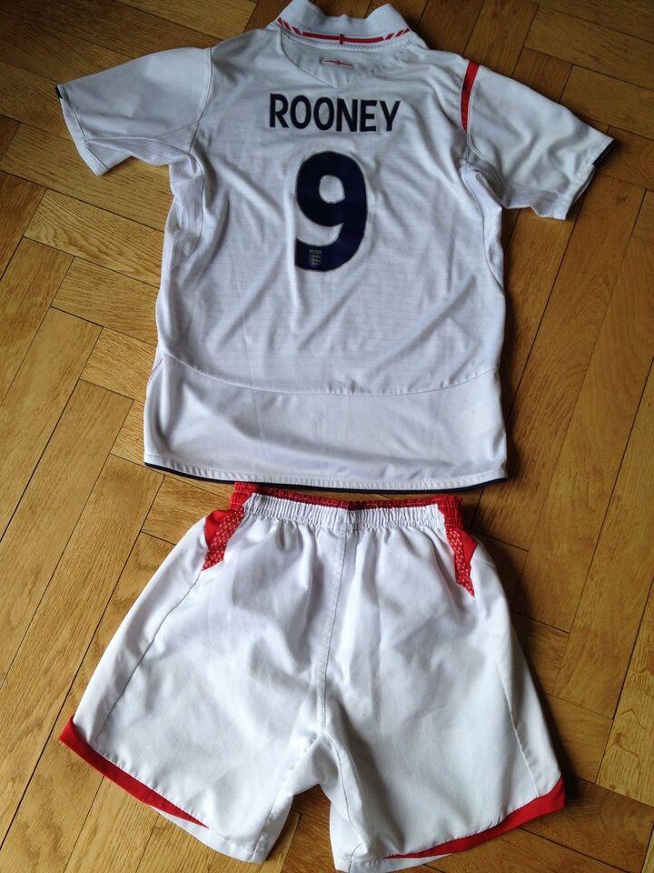 Fodboldsæt, England landholdstrøje og shorts, Umbro