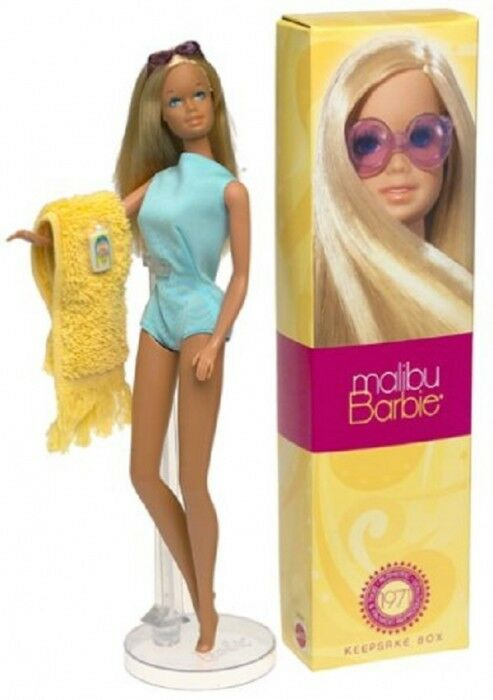 Malibu Barbie Doll 2001 Reproduction of the the the 1971 doll  NO 56061 3d84e4