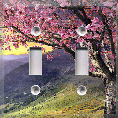 Cherry Blossom Tree Tunnel Themed Light Switch Cover Choose Your Cover