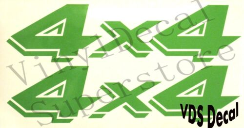 pair DODGE DAKOTA 4x4 bedside decals stickers